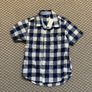 Gap NWT Blue & White Plaid Shirt